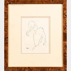 After Amedeo Modigliani (Italian, 1884-1920)      Two Framed Prints: Female Nude