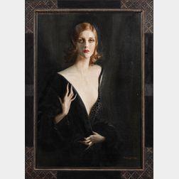 Tadé (Tadeusz) Styka (Polish/French, 1889-1954)      Portrait of a Lady