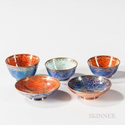 Five Wedgwood Lustre Bowls and Dishes