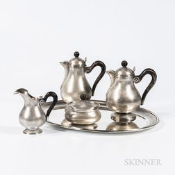 Five-piece Mario Buccellati .800 Silver Tea and Coffee Service