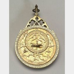 Brass Lahore Astrolabe by Muhammad Muqin