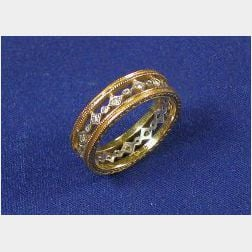18kt Bi-color Gold and Diamond Band, Cathy Waterman
