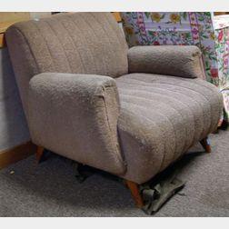 Heywood-Wakefield Modern Upholstered Maple Armchair.