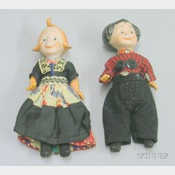 Max and Moritz Bisque Character Dolls