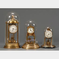 Three German 400-Day Torsion Pendulum Clocks