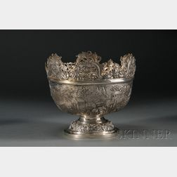 Chinese Export Silver Monteith-style Center Bowl