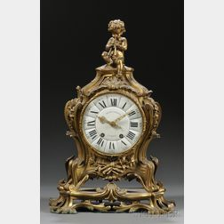 Henry Dasson Gilt-bronze Mantel Clock