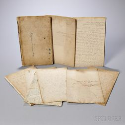 Pinkham, Seth (1786-1844) Manuscript Waste Books, Letter Books, and Personal Journals Composed aboard the Henry Astor