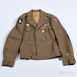 Eisenhower Jacket Owned by Private Charles Kadlec, 101st Airborne Division and European Theatre of Operations