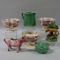 Seven European Ceramic Items