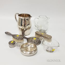 Group of Sterling Silver and Glass Items