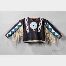 Blackfeet Beaded Cloth War Shirt