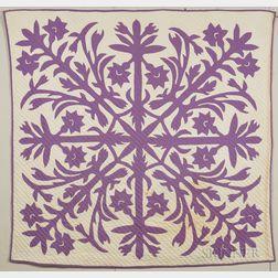 Hawaiian Floral Quilt