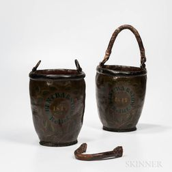 Pair of Painted Fire Buckets