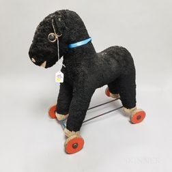Antique Stuffed Horse Pull Toy