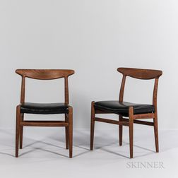 "Two Hans J. Wegner (1914-2007) for CM Madsens ""Model W2"" Side Chairs"