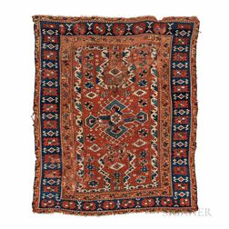 """Bergama Area Rug with """"Re-entry"""" Design"""