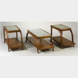 Three Heywood Wakefield Mahogany Tables