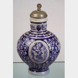 Raeren Blue Glazed Grey Ground Stoneware Krug