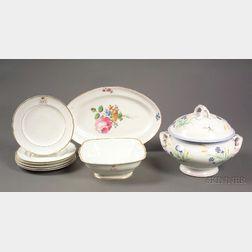 Eight Russian Porcelain Tablewares