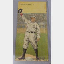 1911 T201 Mecca Cigarettes Double Folder No. 11, Ty R. Cobb/Sam Crawford Baseball Card.