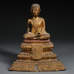 Gilt-metal Seated Buddha