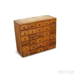 Small Thirty-drawer Apothecary Chest