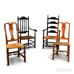 Four Turned Chairs