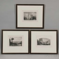 Joseph Mallord William Turner (British, 1775-1851)      Three Views of Italy: Orvieto, Venice-The Bridge of Sighs