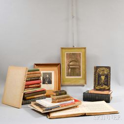 Group of Assorted Books, Framed Engravings, and Sheet Music