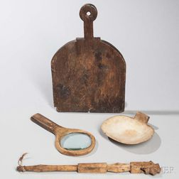 Five Wooden Kitchen/Household Implements