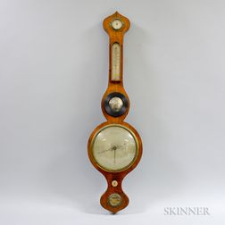 English Rosewood Wheel Barometer