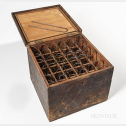 Box of Spider Web Instruments for Producing Crosshairs