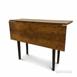 Country Brown-painted Birch Single-leaf Table