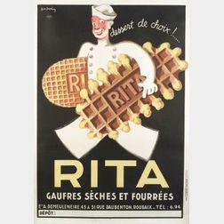 Leon Dupin (Continental School, 20th Century)  Dessert de Choix!...Rita
