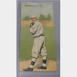 1911 T201 Mecca Cigarettes Double Folder No. 6, Christy Mathewson/Albert Bridwell Baseball Card.