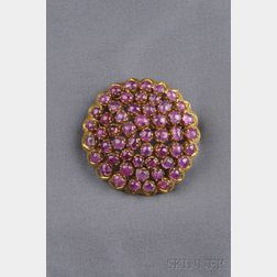 18kt Gold and Pink Tourmaline Brooch, Zolotas