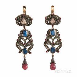Gem-set Earrings