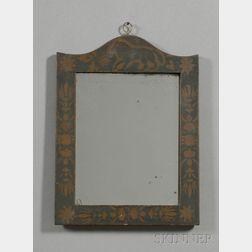 Stenciled Framed Mirror
