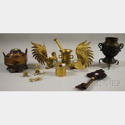 Eleven Asian Metalwork Items