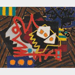 Pierre Clerk (Canadian, b. 1928)    Painting, July 1955