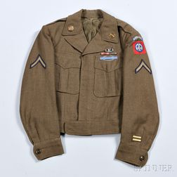 Eisenhower Jacket Owned by Private First Class B. Gowie, 82nd Airborne Division