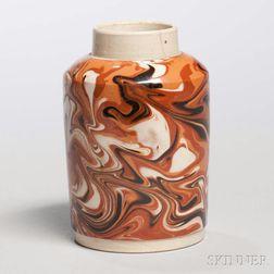 Creamware Slip-marbled Tea Canister