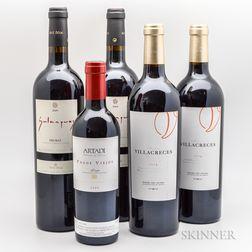 Mixed Spanish Wines, 4 bottles 1 demi bottle