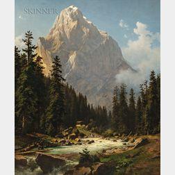 Joseph Jansen (German, 1829-1905)      Alpine View