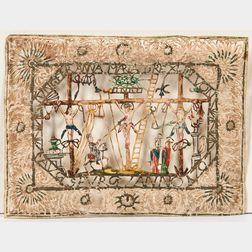 Crucifixion, Cut Paper Scene, Augsburg 1707.