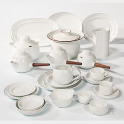 154-piece Bing and Grondahl White Porcelain Dinner Service