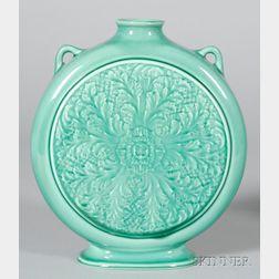 Wedgwood Norman Wilson Design Green Glazed Pilgrim Vase