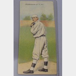 1911 T201 Mecca Cigarettes Double Folder No. 6, Christy Matthewson/Albert Bridwell Baseball Card.