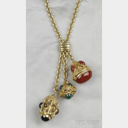 18kt Gold Gem-set Necklace